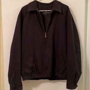 London Fog Front Zip Charcoal Coat - Sz L Long